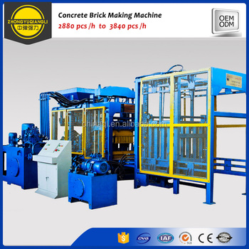 Factory Price Fully Automatic Cement Fly Ash Concrete Hollow Brick Block Making Machine For Sale