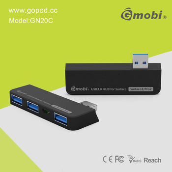 Black Design Gmobi 4-in-1 Connection Kit USB 3.0 HUB+Card Reader Suitable For Surface 2/Pro 2