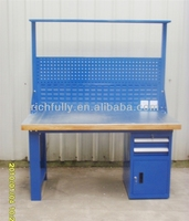 Wooden workbench with wooden table top for sale