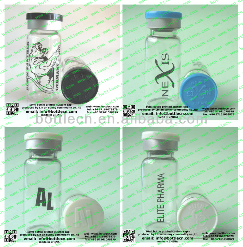 20mm bottle Flip off caps with logo raised for antibiotic bottles