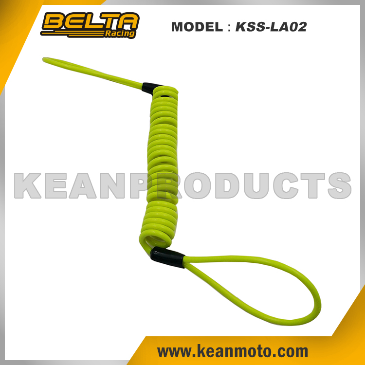 Motorcycle Disk Alarm Lock Reminder Cable In Green KSS-LA02