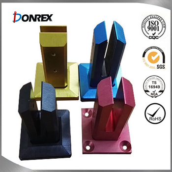 All kinds of glass mounting clamp with anodized finish