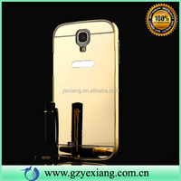 Luxury Gold Aluminium Metal Bumper Case For Samsung Galaxy S6 S5 S4 Note 5 4 3 Mirror Case