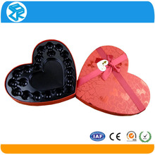 waterproof clamshell packaging PET heart shaped plastic chocolate macarons blister tray