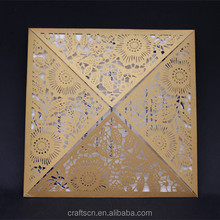 Laser Cut Blank Wedding Invitation Card Luxury