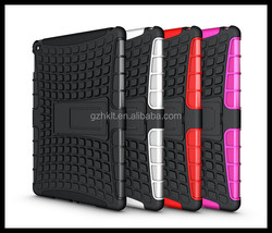 2014 China wholesale! Hybrid tough kickstand case for ipad air 2 shockproof case for ipad 6