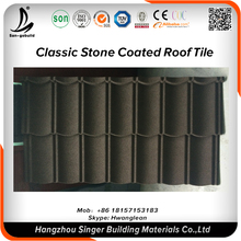 Roofing materials architectural model stone coated zinc aluminum alloy roofing sheets price in nigeria