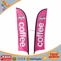 Flying Banner Double Side Printed Swooper