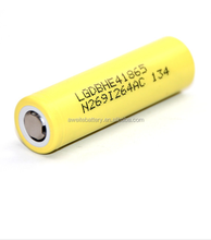 Wholesale hot original brand new rechargeable high discharge rate 2500mAh 3.7V LG 18650 Li-ion battery cells HE4