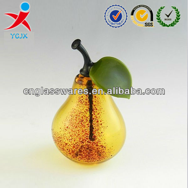 PEAR SHAPE GLASS PERFUME BOTTLES