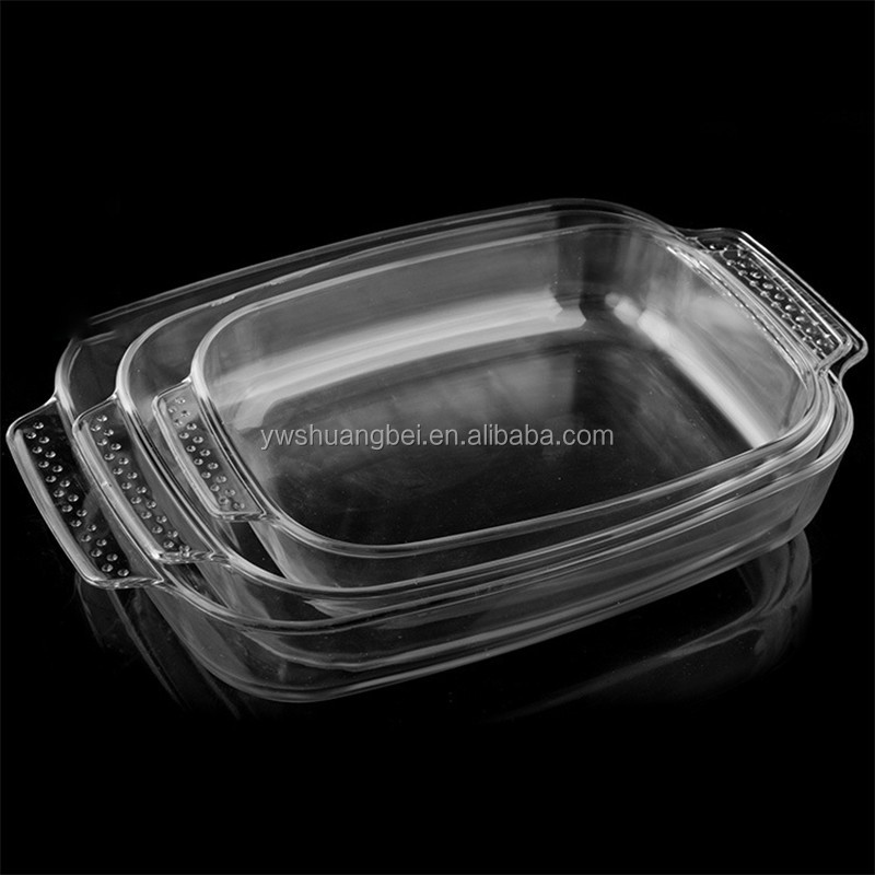 1.8L/2.5L/3.1L Rectangle Microwave Oven Safe Pyrex Glass Backing Tray/Glass Baking Dishes