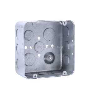 "4"" Square 1/4"" Deep EMT Conduit Box, EMT Steel Box, Steel Box"