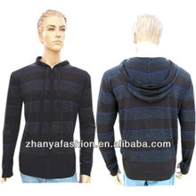Men casual hooded knitted cardigan sweater