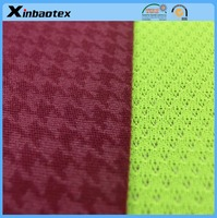 waterproof and breathable fabric 100% polyester 30D/24F Emboss Duble Interlock +TPU Film +100% polyester mesh fabric