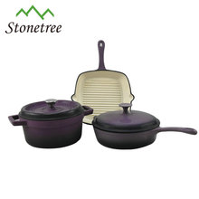 Top quality non-stick enamel coated cast iron cookware