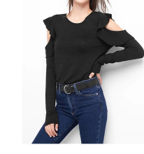 2017 flutter cold shoulder top