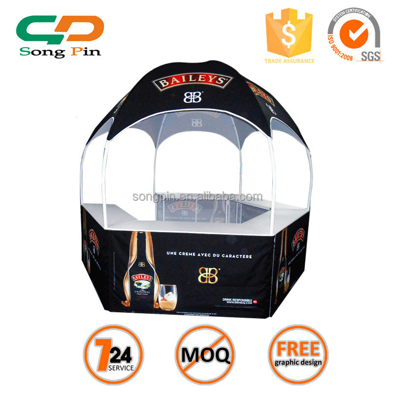 hexagon foldable dome kiosk, advertising tent canopy