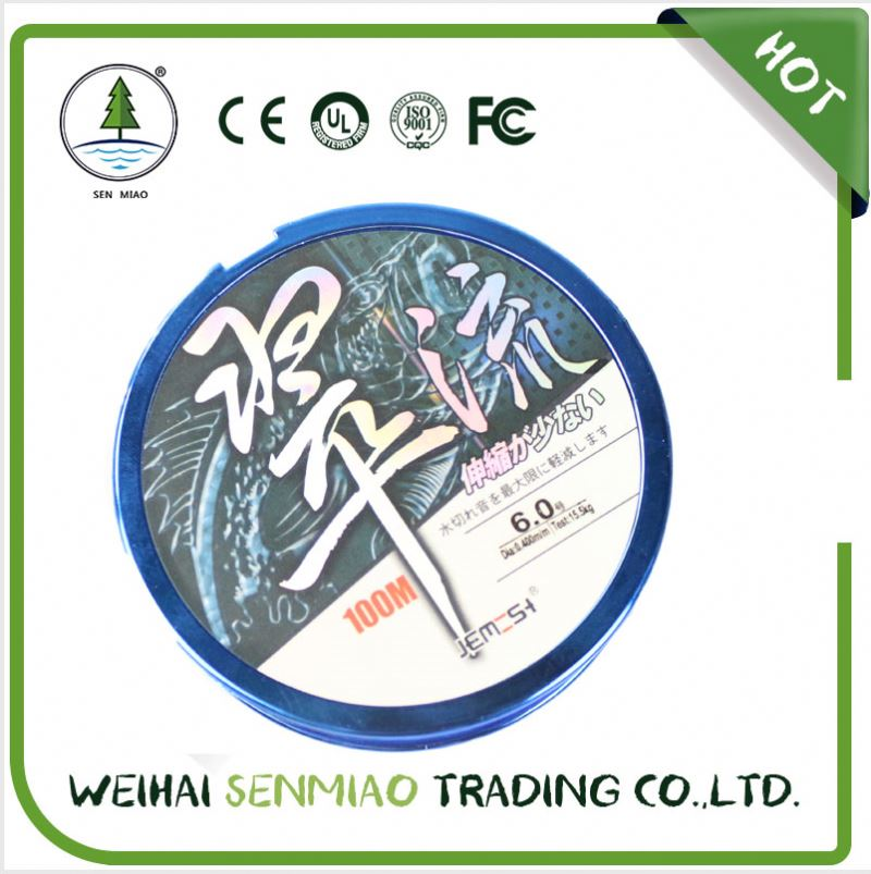 100m carbon & nylon 100% fluorocarbon fishing line