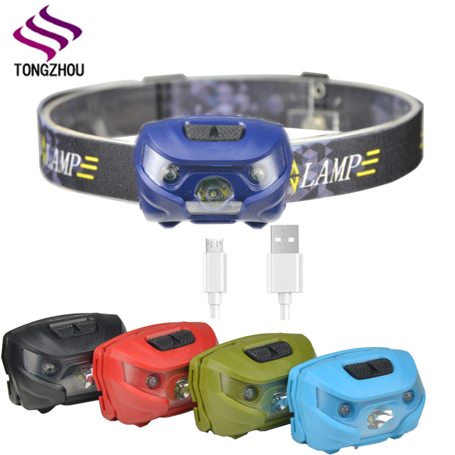 High quality 3W LED head lamp, LED headlamp, head flashlight with usb charge