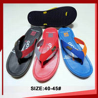 Men's flip flops slipper with Y type rubber strap and antislip flat sole