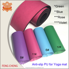 eco friendly pu leather material for yoga mat