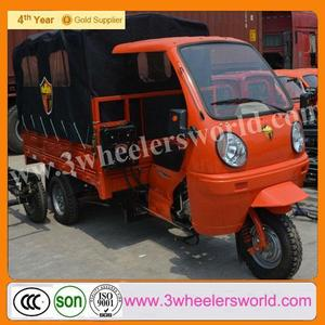 China Supplier 300cc 5.00-12 Tractor Tyre Cargo Tricyce with Cabin For Sale