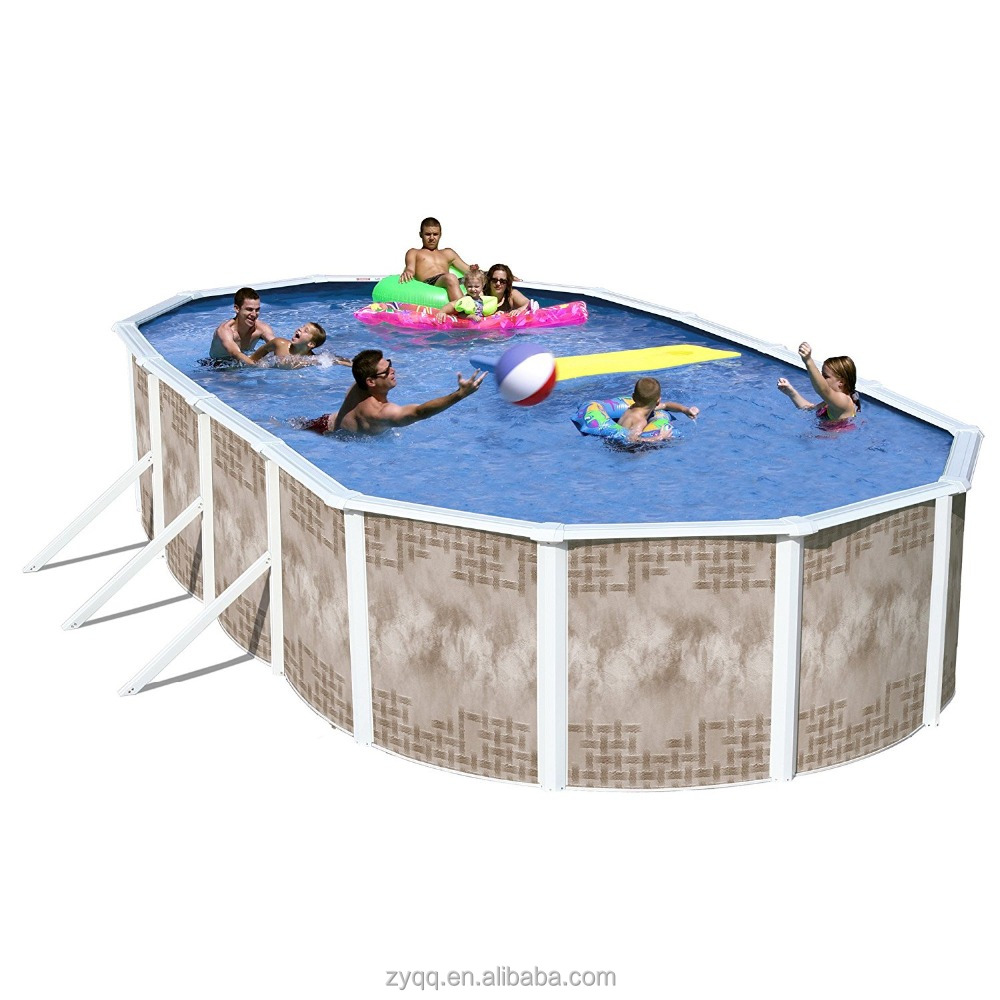 Wholesale price plastic swim pool with sand filter and ladder