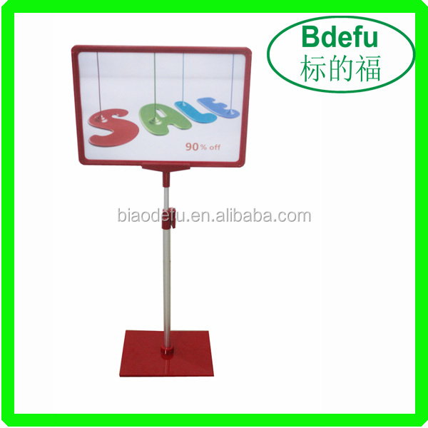 A3/A4 Plastic POP Display Stand for supermarket