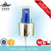New PP plastic mini sprayer non-spill aluminum sliver gold 24/410 18/410 hot sale sprayer cap top quality wholesale