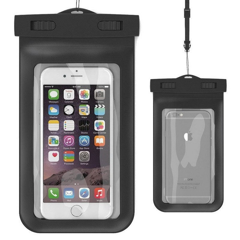 Popular Universal Waterproof Mobile Phone Bag Clear Pouch Case <strong>Cover</strong> with Neck Strap for iPhone for Samsung