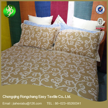 customized embroidered ramie fabric 3d bed sheet