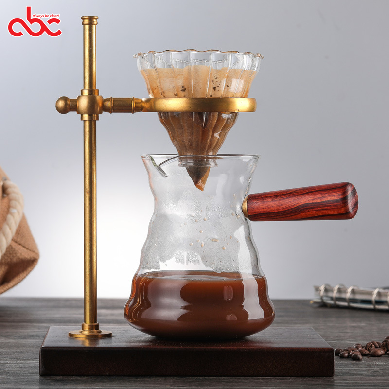 800ml Heat Resistant Borosilicate Glass Coffee Maker Pour Over Glass Coffee Sets