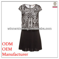 Ladies fashion factory manufacturer hot sales women clothes with back keyhole