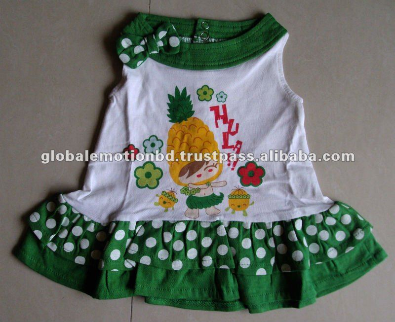CUTE DESIGN HIGH QUALITY BABY DRESS