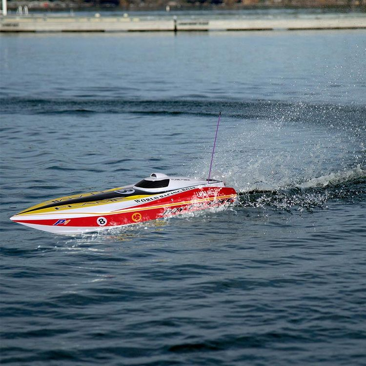 225bl057ap-Original Flame Racing Boat 1300bp 60km-H High Speed Electric Fiberglass RC Boat with Fs-Gt2 2.4G Transmitter