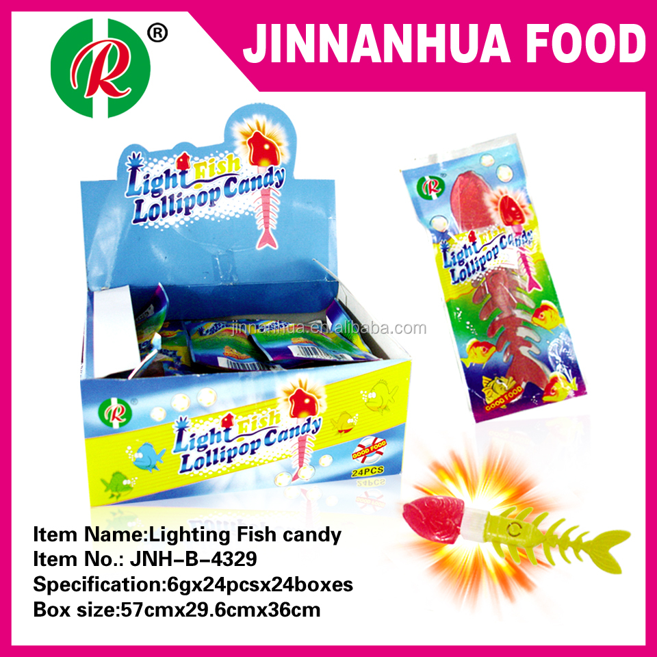 lighting flash fish candy
