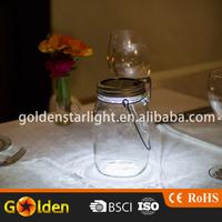 Storage Hanging Docorative Garden Clear Glass Solar Mason Jar Light