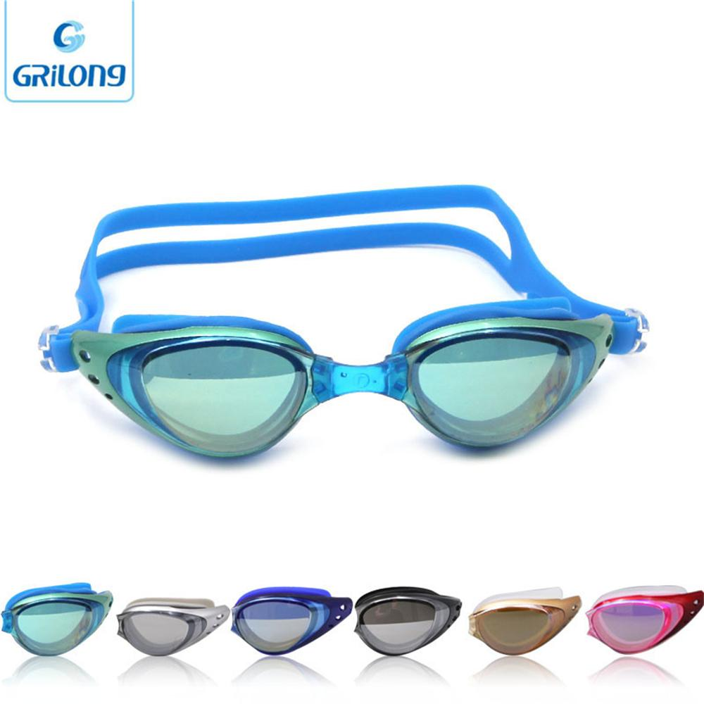 2016 gelang swimming goggles interchangeable lens racing swimming eye glasses for asian