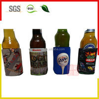 Portable Sulimation Insulated Neoprene Beer bottle Cooler/Water botter cup Cooler