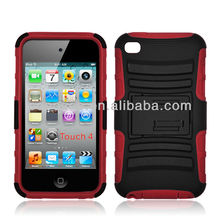 Hybrid defender cellphone case for Ipod touch 4