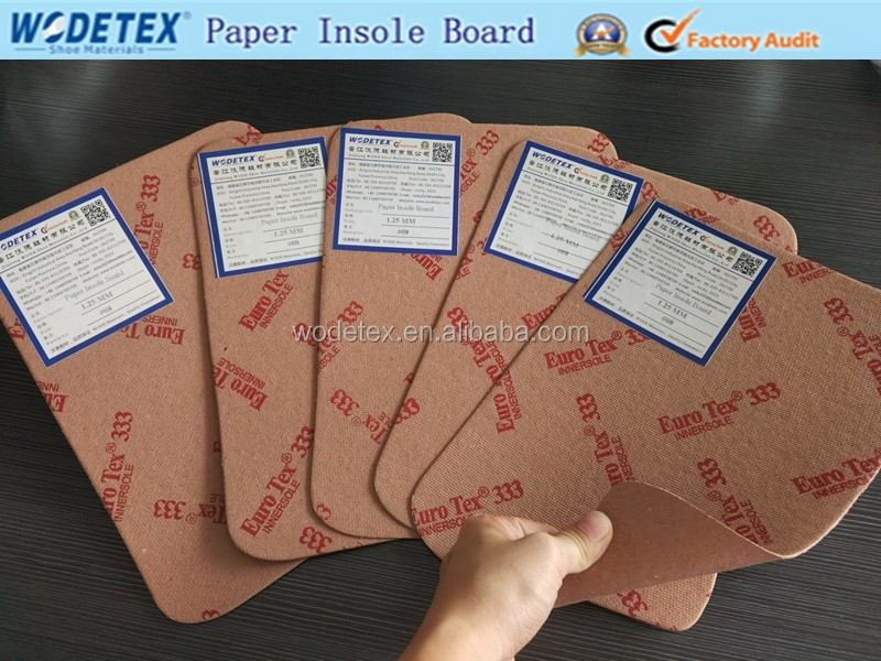Raw material insole paper board and texon shoe lining