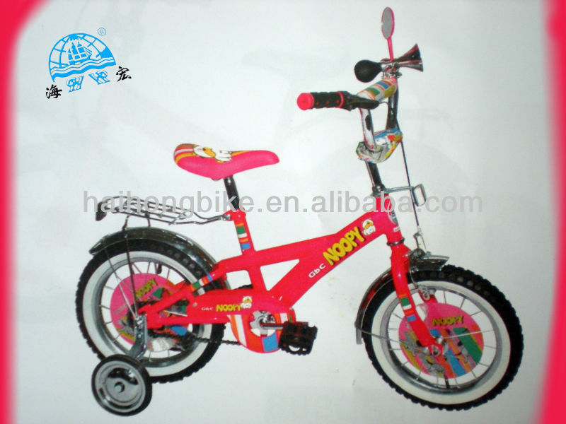 Red color with carrier training wheel mirror durable grip baby girl cycle,child bmx bicycle,kid cycle cycling