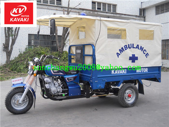 (KAVAKI MOTOR Life-saving 3 wheel motorcycle,safe&Speed&comfortable=Life-saving) export to Africa 175CC ambulance tricycle