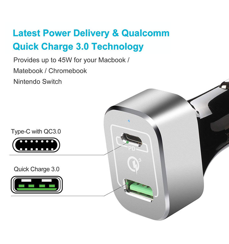 Type C PD Car Charger