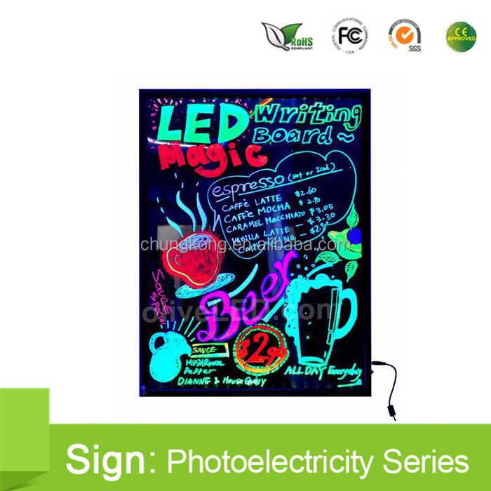 Indoor LED Displays 400mm*600mm pvc sign board led writing board