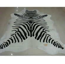 Nasida CLB101 Printing black and white zebra fur color cowhide rugs