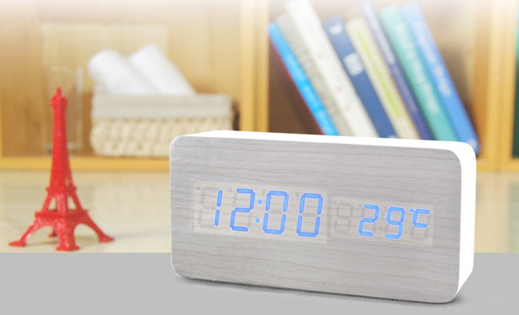 Multifunction LED electronic desk clock with tempetature