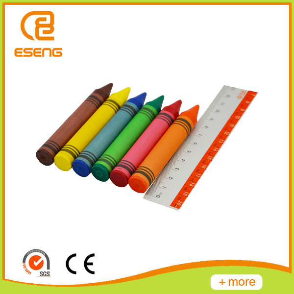 6 colors non-toxic wax crayon for kids with best quotes