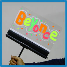 Alibaba trade assurance advertising light boards acrylic plastic frame luminous writing board magic color changing board