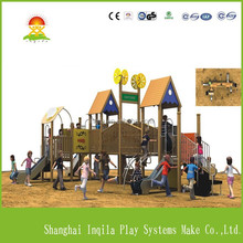 Children large outdoor playschool equipment wood baby slide